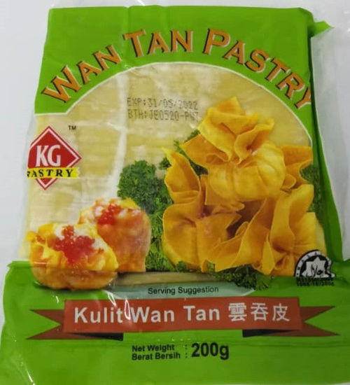 Picture of KG WANTAN SKIN SQUARE <br>云吞皮<br> ( 1PKT / 200g )