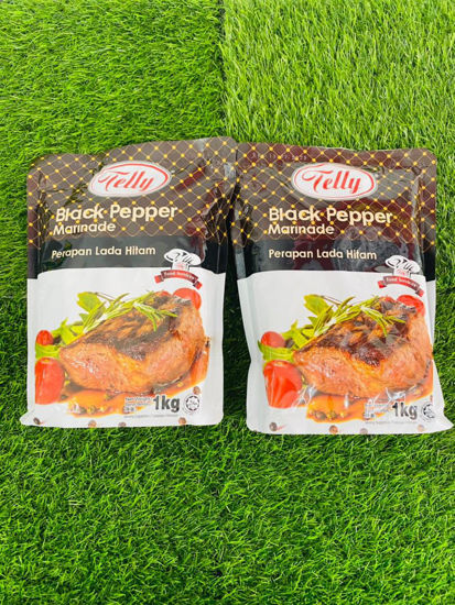 Picture of TELLY BLACK PEPPER MARINADE  SEASONING <br>( 1PKT / 1KG )